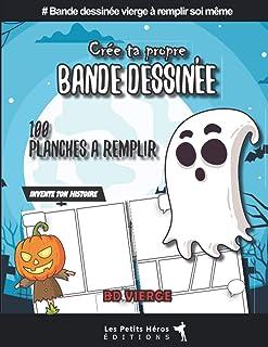Créer sa propre bande dessinée: v1-9 bd vierge à remplir soi même thème Halloween |..