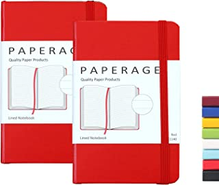 2-Pack Pocket Notebook Journal Notepad Small, College Ruled, 3.6