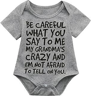 A14UBP Infant Babys Long Sleeve Jumpsuit Romper Nuts About You-1 Unisex Button Playsuit Outfit Clothes