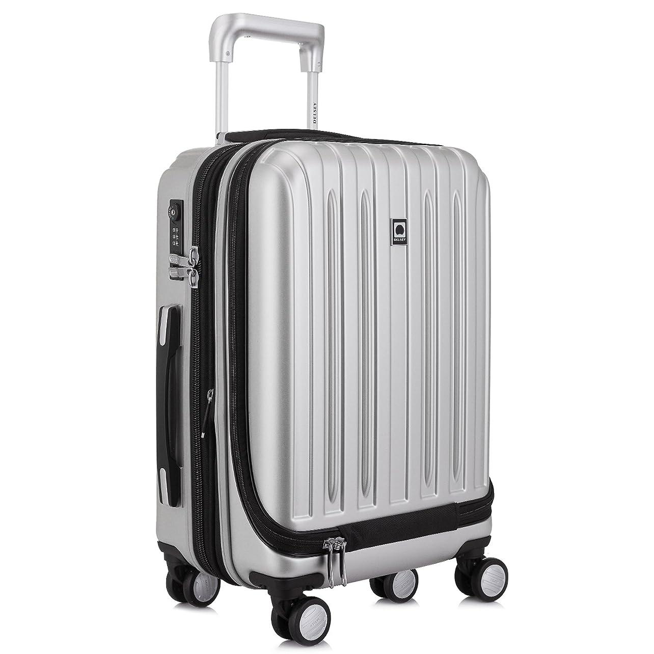 撤退走る保護する[デルセー] Delsey VAVIN スーツケース 機内持込 マット加工 拡張可 100%PC 超軽量 5年国際保証付