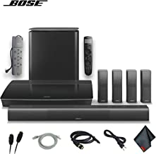 Bose Lifestyle 650 Home Theater System with OmniJewel Speakers (Black) W/Optical Cable, HDMI Cables, AUX Cable, PowerStrip and More