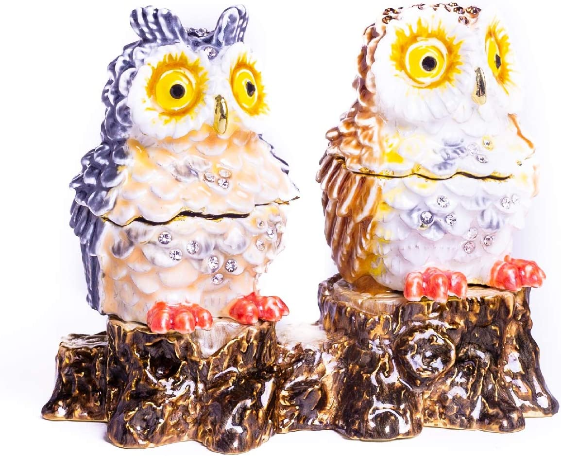 Keren Kopal Two Owls Sitting on Trinket Tree Box Now on sale Decorated Max 61% OFF Trunk