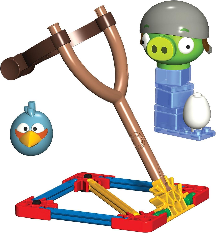 K'NEX Angry Birds bluee Bird versus Helmet Pig