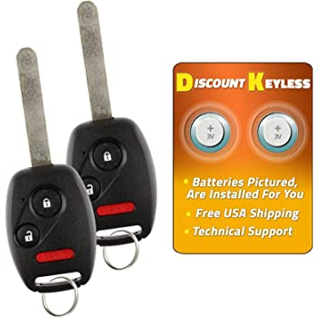 NEW Keyless Entry Remote Key Fob UNCUT KEY /& CASE ONLY For a 2010 Honda Pilot