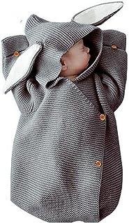 hotlovelysell325 Adorable Rabbit Baby Stroller Sleeping Bag Spring Autumn Newborn Infant Knitted Swaddle Wrap Nest Envelopes for Toddler Kid