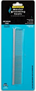 """Master Grooming Tools Greyhound Combs — European-Style Combs for Grooming Dogs - Fine/Coarse, 7½"""""""