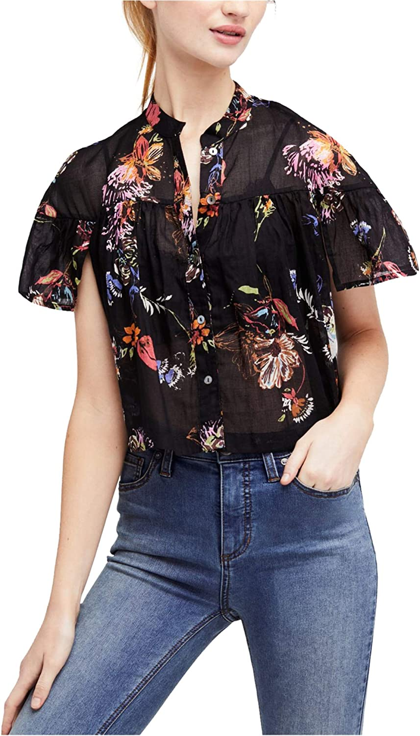 Free People Women's Sweet Escape Sheer Button-Down Blouse