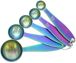 Farberware Set of 5 Stainless Steel Iridescent Measuring Spoons