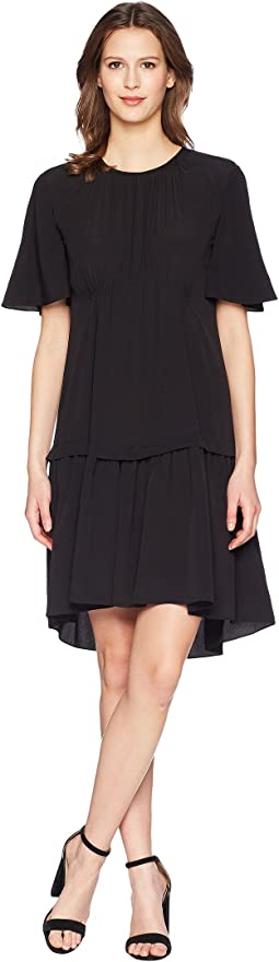 Jil Sander Navy - Oversize T-Shirt Dress in Crepe De Chine