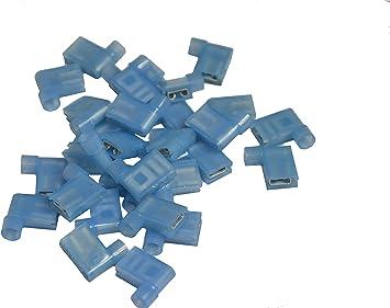 blau 6,3 x 0,8mm je 10 Stück rot Flachsteckhülsen vollisoliert Winkel 90°