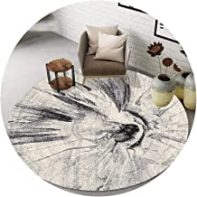 Area Carpet Round Carpet Nursery Rugs Nordic Minimalist Style Short Fluff Print Suitable for Living Room Bedside Bedroom S...