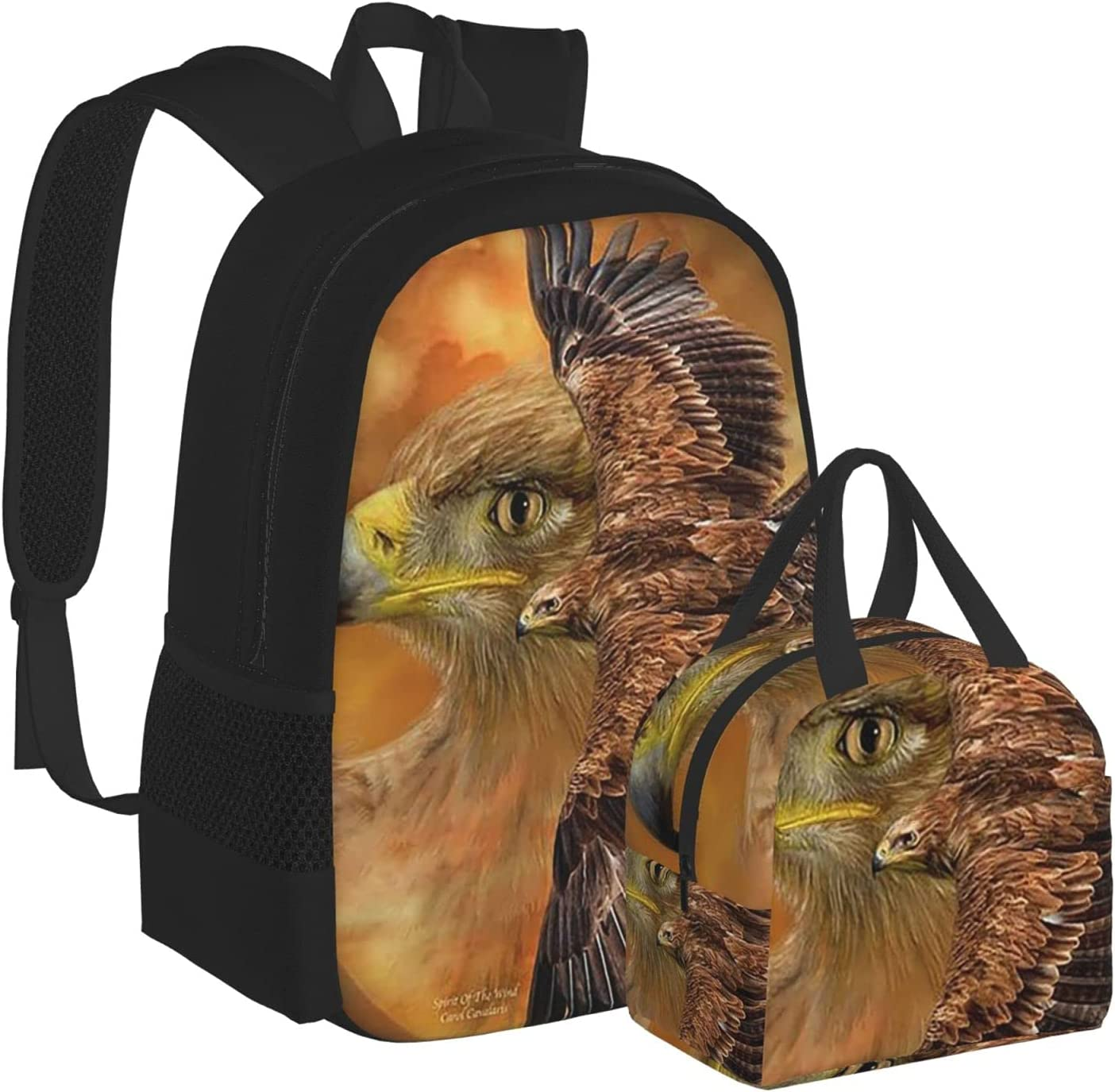 Flying Bald Eagle Cross Space Middle For Backpack Schoolbag Free shipping on posting reviews Popular overseas Scho