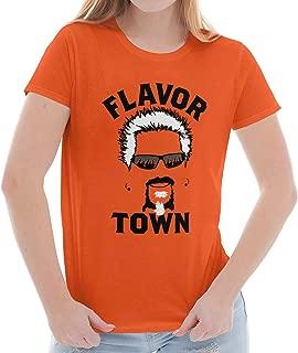 Food TV Flavor Town Funny Meme Foodie Ladies T Shirt