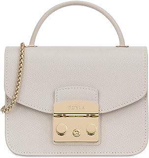 Furla Metropolis Ladies Mini White Perla Leather Crossbody 978141