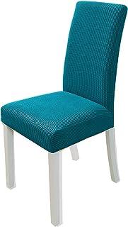 PETCUTE Fundas para sillas de Comedor elásticas Fundas para sillas Respaldo Alto Fundas para sillas Salon Verde Oscuro 6 Piezas
