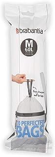 Brabantia Código M Bosas de Basura 60 litros, Rollo de 10 Bolsas, Blanco