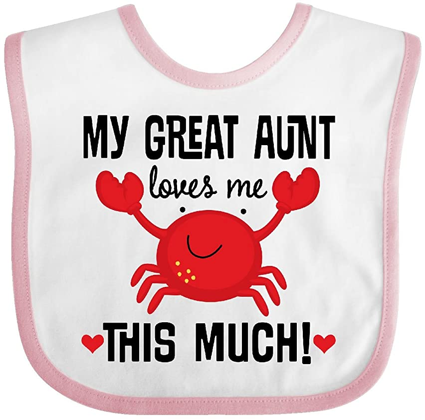 Inktastic - My Great Aunt Loves Me Baby Bib 2e7d3