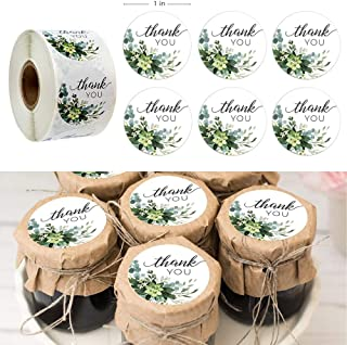 Assorted Stickers - 500pcs 1 Inch Flower Round Sticker THANK YOU Baking Packing DIY Seal Sticker Label for Cake Packaging ...
