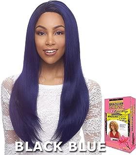 Janet Collection Brazilian Scent Human Hair Blend Lace Wig - ALEX (1 Jet Black)