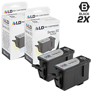 LD Compatible Ink Cartridge Replacement for Dell DW905 Series 20 (Black, 2-Pack)