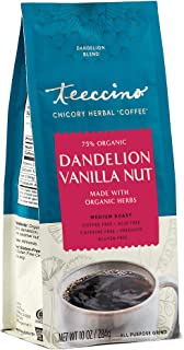 Teeccino Coffee Alternative – Dandelion Vanilla Nut – Detox Deliciously with Dandelion Herbal Coffee That's Prebiotic, Caf...
