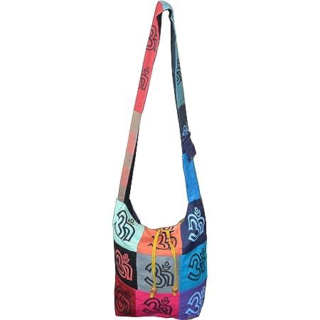 Schulter Bag Indi Tasche Yogitasche Schultertasche Peace Druck (bunt)