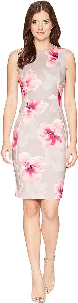 Floral Scuba Sheath Dress CD8MT7EH