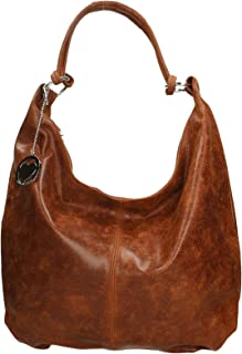 Chicca Borse Bag Borsa a Spalla in Pelle Made in Italy 45x35x4 cm