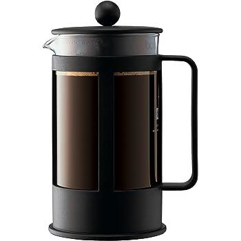 Bodum - 1788-01 - Kenya - Cafetière à Piston - 8 Tasses - 1 L - Noir