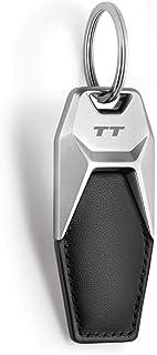 Audi collection 3181900630 Audi TT lederen sleutelhanger, zwart/zilver