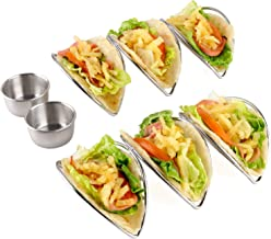 Taco Holder Stand Set of 2 Stainless Steel Taco Rack Holders for Soft Hard Shell Tacos Baking taco Truck Tray