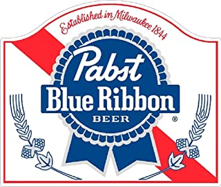 Signs By Woody Pabst Blue Ribbon Classic Vintage Sticker Decal NHRA RatRod Street Rod