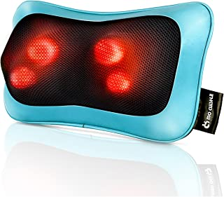 Shiatsu Neck Back Massager Pillow with Heat - Deep Tissue Kneading Massage for Back, Neck, Shoulder, Leg, Foot - Perfect Gift for Men/Women/Mom/Dad, Stress Relax at Home Office and Car