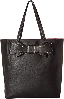 Stud Bow Structured Tote