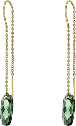 LAUREN Ralph Lauren Stone Drop Thread Earrings
