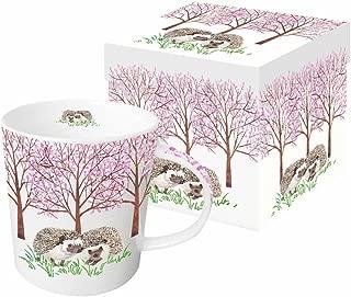 Paperproducts Design New Bone China Large Capacity Gift Boxed Mug, Hyde Park Hedgehogs, 13.5 oz, Multicolor