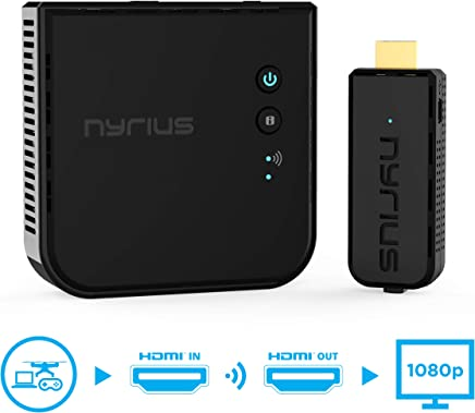 $199 Get Nyrius Aries Prime Wireless Video HDMI Transmitter & Receiver for Streaming HD 1080p 3D Video & Digital Audio from Laptop, PC, Cable, Netflix, YouTube, PS4, Xbox One to HDTV/Projector (NPCS549)