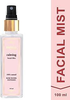 BodyHerbals Natural Calming - Glow - Rose Facial Mist I Paraben & SLS Free(100 ml)