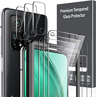 LK 6 Pack Protector de Pantalla Compatible con Xiaomi Mi 10T 5G/10T Pro 5G,Contiene 3 Pack Cristal Vidrio Templado y 3 Pac...