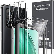 LK 6 Pièces Verre Trempé Compatible avec Xiaomi Mi 10T 5G/10T Pro 5G,Contenir 3 Pièces Protection écran et 3 Pièces Caméra Arrière Protecteur,Double Protection,Vitre Protection