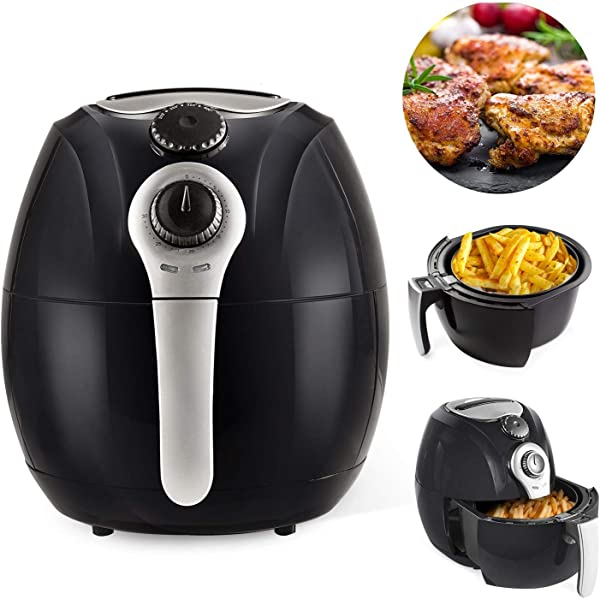 Simple Chef Air Fryer SC2AIRFY Air Fryer For Healthy Oil Free Cooking 3 5L Capacity W Dishwasher Safe Parts