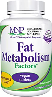 Michael's Naturopathic Programs Fat Metabolism Factors - 90 Vegan Tablets - Nutrients for The Metabolism of Fats & Cholest...