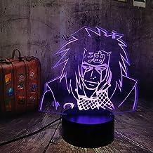 Naruto Jiraiya Gama Sennin Ero-Sennin Anime Action Figure 3D LED Optical Illusion Nursery Night Light Remote Control Baby ...