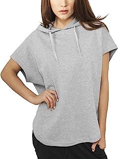 Urban Classics Women's Ladies Sleeveless Terry Hoody Sweatshirt