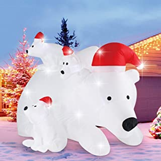 christmas polar bear blow up