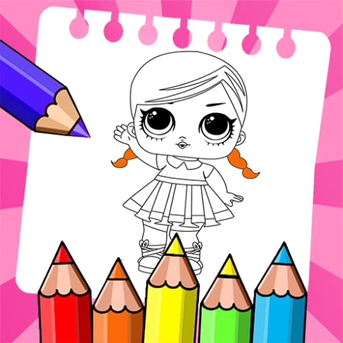 Cute Dolls Drawing Pages for kids