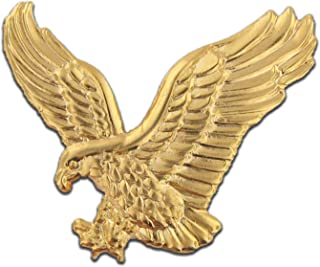 Soaring American Gold Eagle Jewelry Lapel Pin