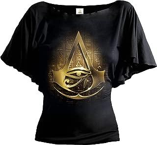 Spiral Womens - Origins Logo - Assassins Creed Boat Neck Bat Sleeve