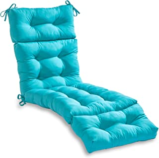 South Pine Porch AM4804-TEAL 72-inch Outdoor Chaise Lounge Cushion, Solid Teal
