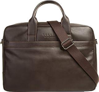 Bugatti Corso Leder Businesstasche für Damen und Herren mit 15 Laptopfach, Arbeitstasche Aktentasche Große Bürotasche, Braun